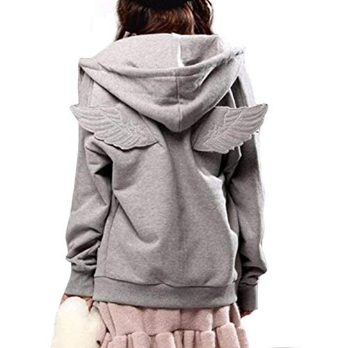 dNepyoDJ Women Hooded Causal Full Sleeve Fleece Tracksuit Hit Angle Wings Hoodies