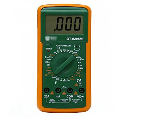Hycy Professional LCD Digital Multimeter Voltmeter Ohmmeter Ammeter Tester with Buzzer Tester DT9205