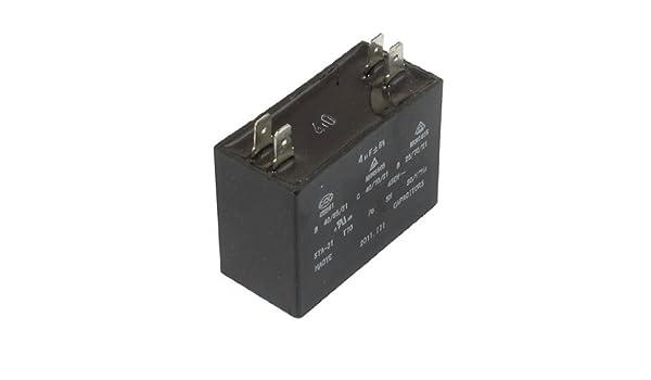 eDealMax a12082300ux0385 450VAC 4uF 4 terminales del acondicionador de aire del ventilador de condensador Run: Amazon.com: Industrial & Scientific