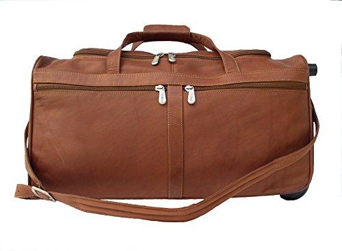 Piel Leather Traveler Duffel Bag on Wheels