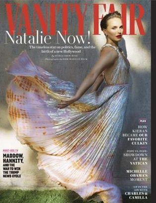 (Vanity Fair Magazine Issue :- December 2018 Cover :- Natalie Portman + Magazine cafe)