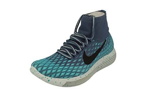 NIKE Womens Lunarepic Flyknit Shield Running Shoes Ocean Fog Blue 400 iVKDgSLix