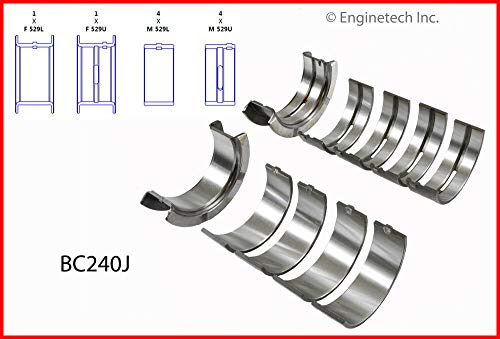 ENGINETECH BC240J MAIN BEARINGS (SIZE:STD) compatible with FORD SBF 289 4.7L & 302 5.0L V8
