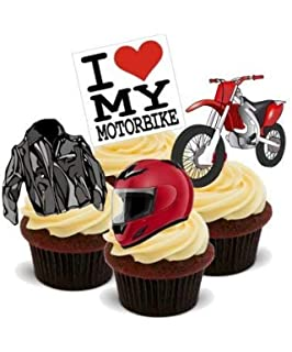 Phenomenal Moto Gp Motorbikes Ducati Suzuki Yamaha Mix Edible Cupcake Personalised Birthday Cards Epsylily Jamesorg