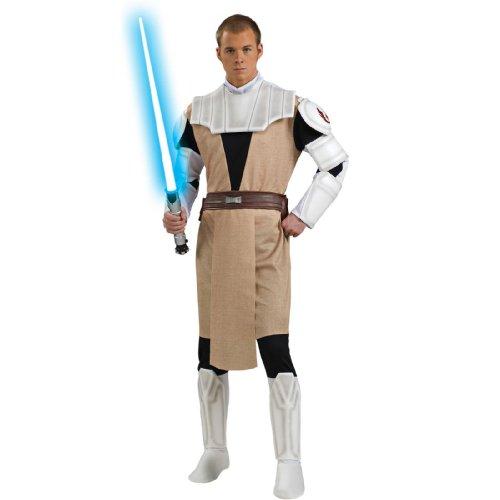 Rubie's Costume Men's Star Wars Clone Deluxe Adult Obi-Wan Kenobi, Multicolor, X-Large (Clone Wars Costumes)