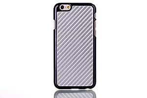 Foxnovo elegante en fibra di carbonio videosigle Custodia Protettiva par iPhone 6Plus–Grigio