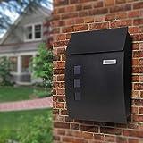 Letterbox/Mailbox/Post Box, Model 444 Black