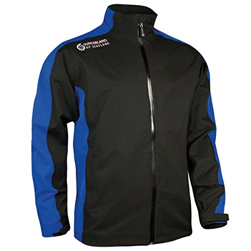 Sunderland Men's Vancouver Waterproof Golf Jacket - Black/Electric Blue - US S