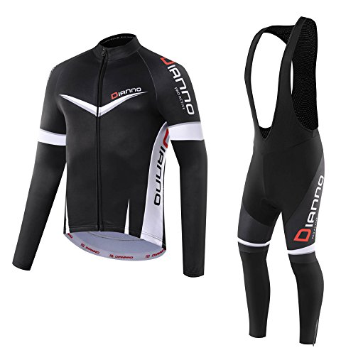 Non Stop Thermal long sleeve Jersey & Bib Tight. Use for Winter Autumn & Spring (size:2XL) (Winter Bib Tights)