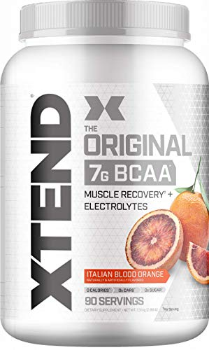 Scivation Xtend BCAA Powder, 7g BCAAs, Branched Chain Amino Acids, Keto Friendly, Italian Blood Orange, 90 Servings