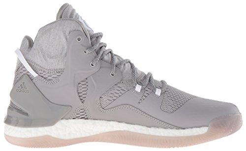 Adidas Performance Mens D Rose 7 Scarpa Da Basket Medio Grigio Heather / Bianco / Mgh Grigio Solido