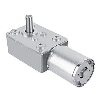 DC 12V Reversible High Torque Turbo Worm Gear Box Reduction Electric Motor(62RPM): Amazon.com: Industrial & Scientific