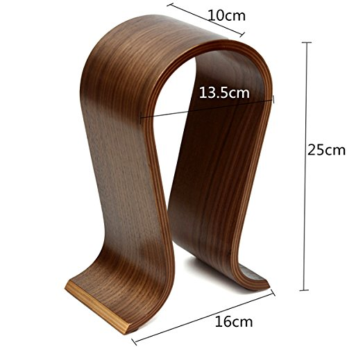 Wooden U-shape Display Stand Hanger Holder Rack for Headset Earphone Headphone by BephaMart (Image #3)