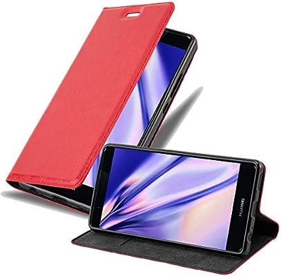 Cadorabo Funda Libro para Huawei Ascend P9 Plus en Rojo Manzana – Cubierta Proteccíon con Cierre Magnético, Tarjetero y Función de Suporte – Etui Case Cover Carcasa: Amazon.es: Electrónica