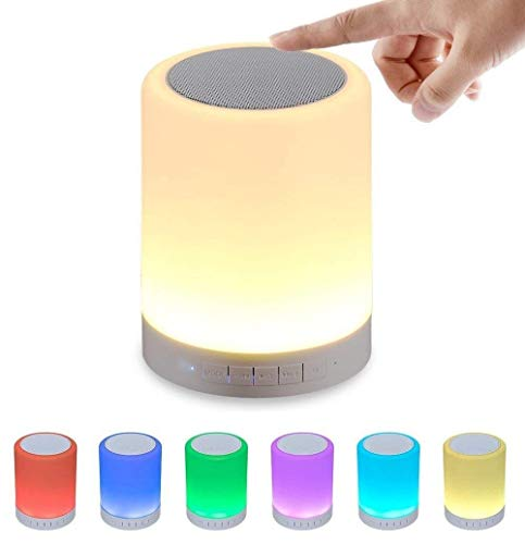 Table Touch Lamps,Keright Bedisde Lamps with Bluetooth Speaker Dimmable Warm Light & Color Changing Night Lights Best Gifts for Kids, Teens, Women and Men, Party and Bedroom by Eleker