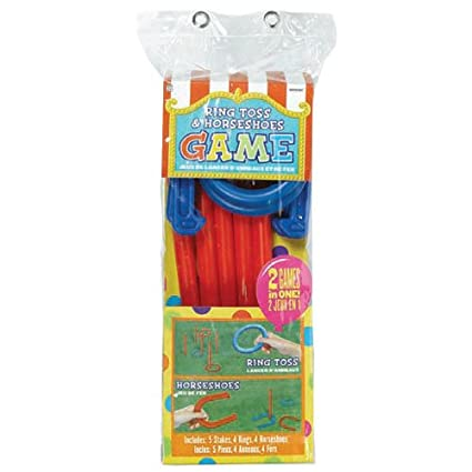 Party Accessory Amscan 279219 Ring Toss /& Horshoes Combo Game Game Collection