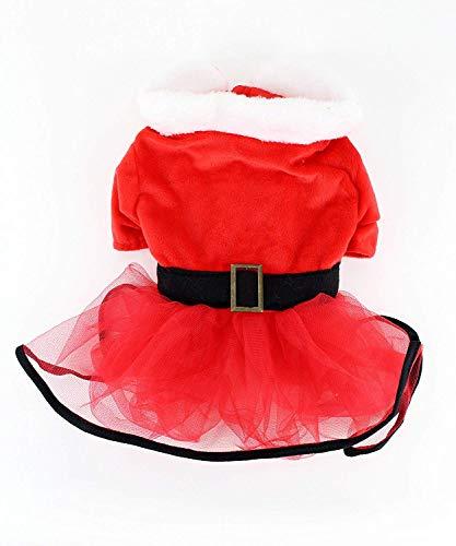 Christmas Holiday Dog Dress - Midlee Mrs. Claus Santa Tutu Dog Dress (XXX-Large)