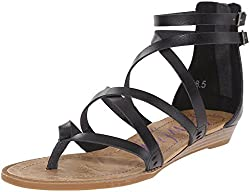 Blowfish Women's Bungalow Sandal, Black, 7 M Us