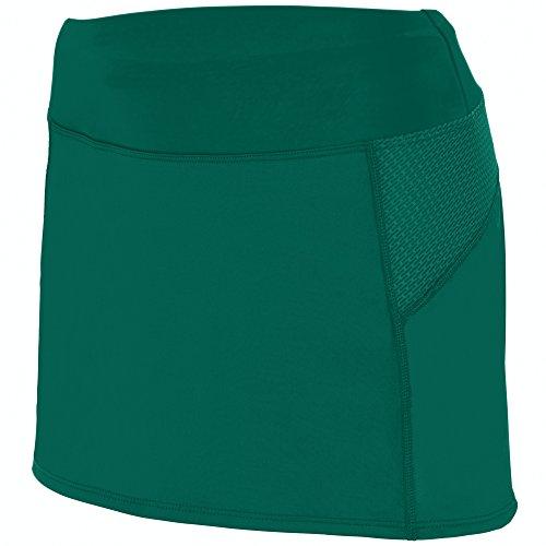 Augusta Sportswear Girls' Femfit Skort L Dark Green/Graphite