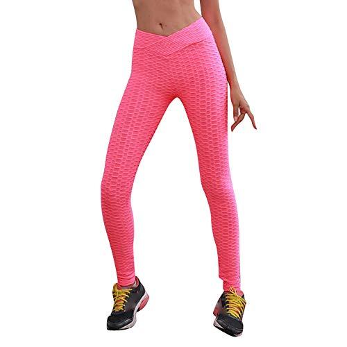 Pantaloni Sportivi Donna Rosa Ghette Pantaloni Fitness Da Yoga Esecuzione Hight Gli Donne Allungare Sport In Vita x4q6fqwgd