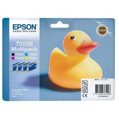 Pack of 4 TO55 Ink Cartridges - black, cyan, magenta, yellow by Epson