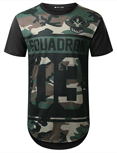 URBANCREWS Hipster Camouflage Graphic Longline product image