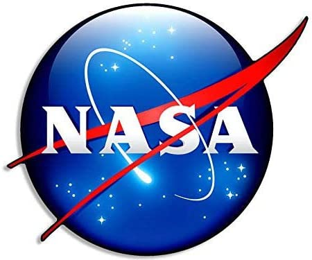 American Vinyl 3D Look - NASA Meatball Logo Shaped Sticker (Insignia Seal Three Space Science Nerd Symbol)