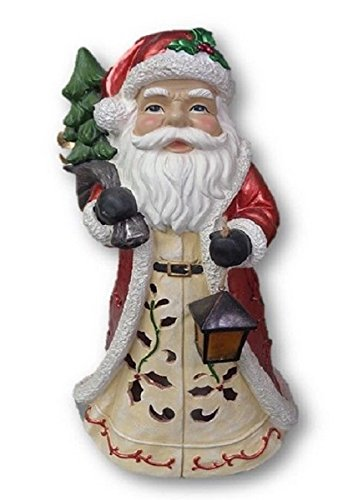 Oversized Christmas Luminary with Flameless Candle (Santa Claus)