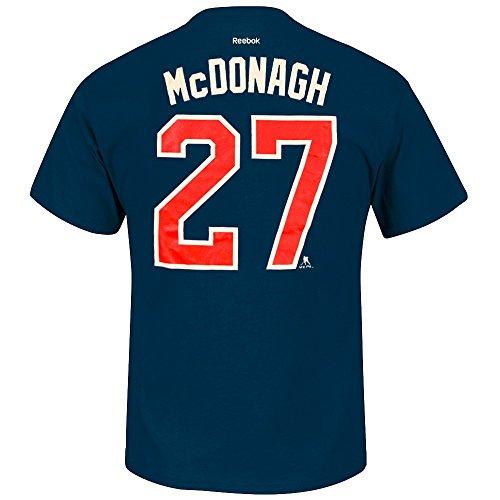 Ryan McDonagh New York Rangers NHL Reebok Men Navy Blue Player Name & Number Jersey T-Shirt (M) (Navy Blue Player T-shirt)