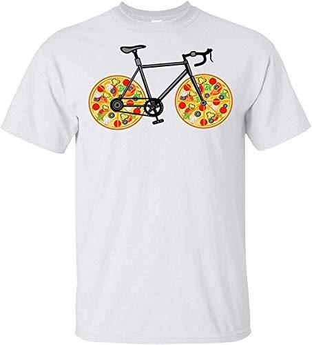 Dedesty Gracioso Hombre's Pizza Bike Customized Short Sleeve T Shirt