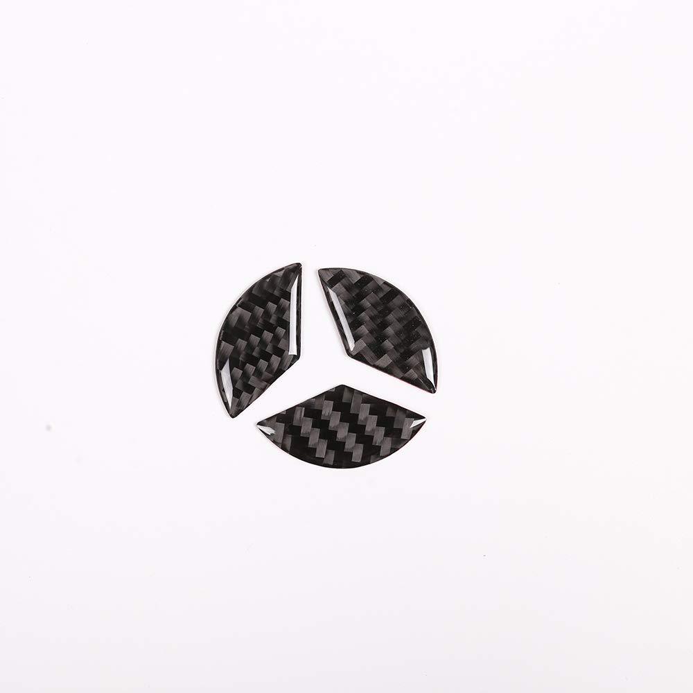 DIYUCAR 3pcs Real Carbon Fiber For Benz C Class W204 2007-2013 Car Steering Wheel Decoration Cover Sticker