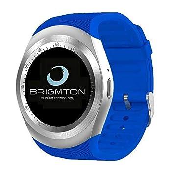 """Brigmton Bwatch - Reloj Inteligente (Pantalla DE 1.3"""", RAM de 32 MB,"""