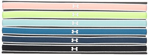 Price comparison product image Under Armour Women's Mini Headbands - 6 Pack, Cape Coral (980)/White, One Size