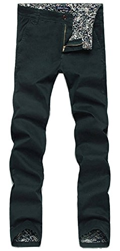 [Brucest Men's Cotton Casual Pants Dark Green31 product of good quallty] (Morph Suite)