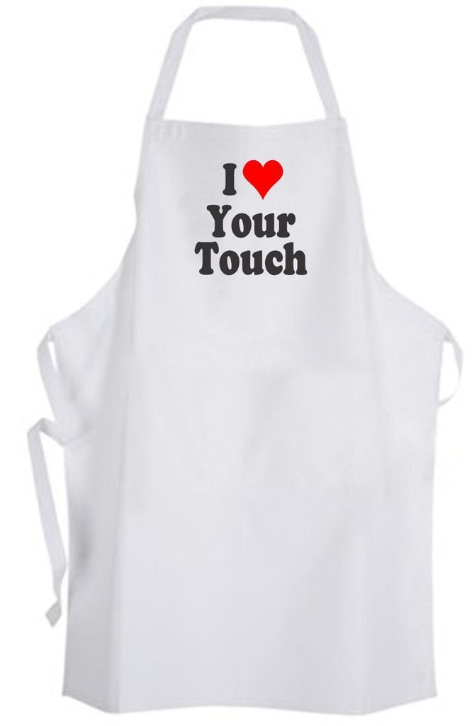 I Love Your Touch – Adult Size Apron - Love Couple Relationship Marriage Wedding