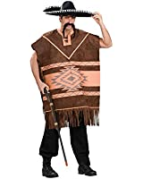 Smiffys 34291M Western Brown Poncho Adult Costume