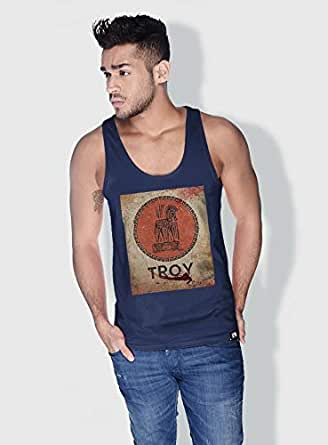 Creo Troy Movie Posters Tanks Tops For Men - M, Blue