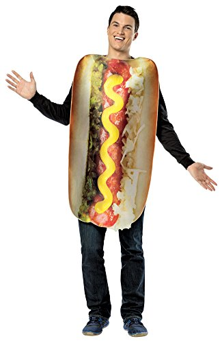 [Halloween Costumes Item - Get Real Loaded Hot Dog Adult Costume] (Hot Dog Costume Women)