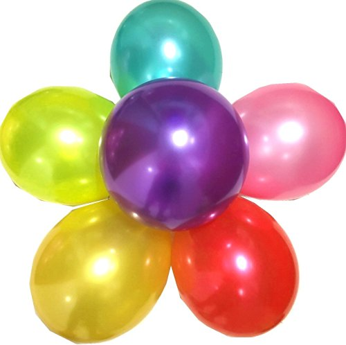 Assorted Colours Latex Balloons (Elecrainbow 100 Pack 12