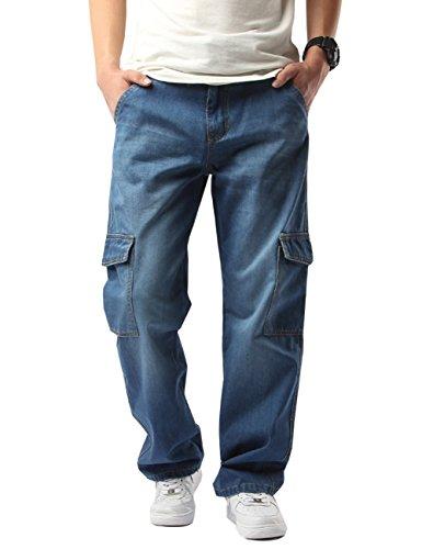 Denim Cargo Pants - 9
