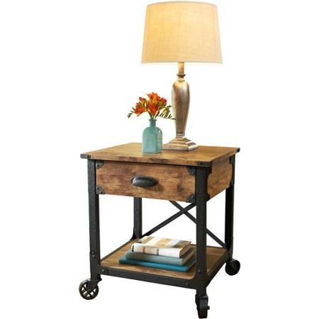 (Better Homes and Gardens Rustic Country Side Table, Antiqued Black/Pine by Better Homes & Gardens)