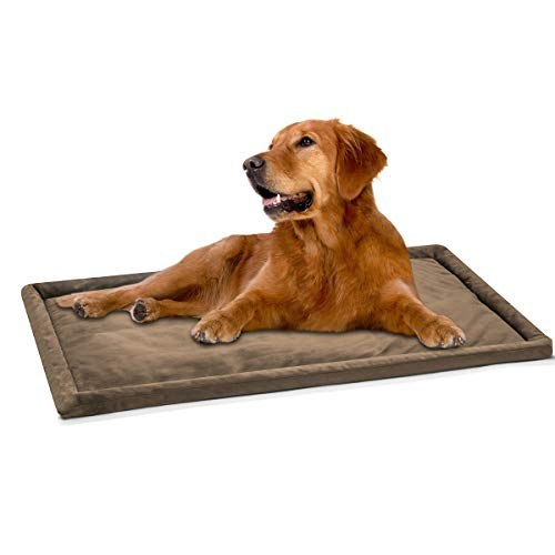 (DogJog Dog kennel pad Washable Mat Warm Breathable Comfortable Dog bed for crate 35