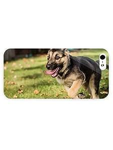 3d Full Wrap Case for iPhone 5/5s Animal German Shephard Puppy wangjiang maoyi