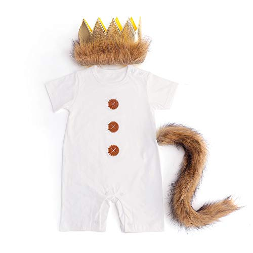 Where The Wild Things are Costume Wild One Birthday Boy Outfit Wild One Short Sleeve Romper Party]()