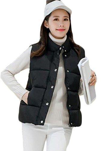 反対にモールス信号スモッグDeBangNi レディース ダウンベスト 秋冬 防寒 ダウンジャケット 袖なし 無地 シンプル 綿入れ ショート丈 柔らかい 暖かい アウター 韓国風 ゆったり 着やせ おしゃれ