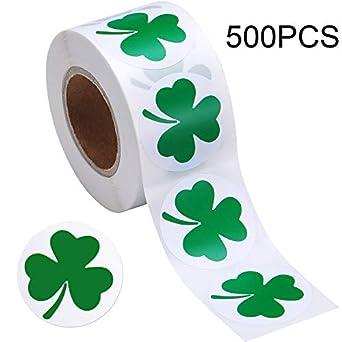 1 Roll Sealing Sticker Shamrock Supplies Decoration for DIY Decor Irish Festival