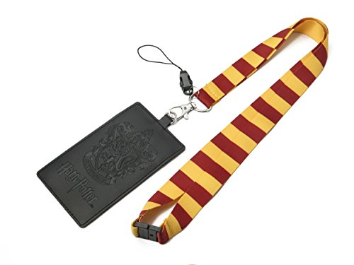 (HARRY POTTER Gryffindor School Crest Lanyard with Multiple Card Holder Slots)