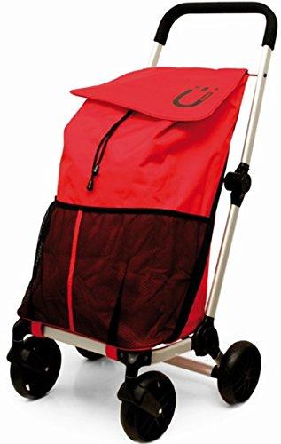 Carrello Spesa Pieghevole Penguin Maxi Premium 4 Ruote 55lt Rosso