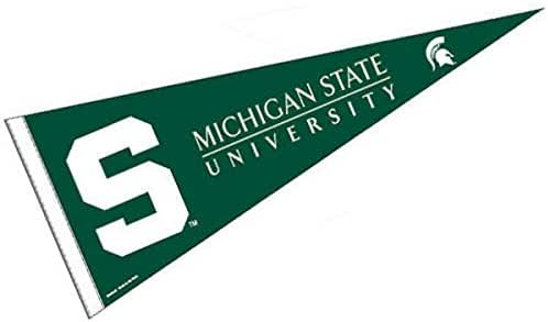 amazon com college flags banners co michigan state pennant full size felt sports outdoors college flags banners co michigan state pennant full size felt