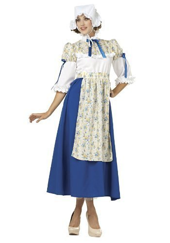 Lady Costumes Adult Colonial (RG Costumes 81362-L Large Lady Colonial Adult Costume -)